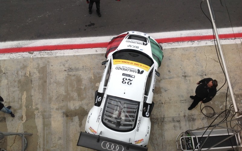 Le qualifiche positive infondono ai piloti Audi ottimismo per la 6 Ore di Roma. Secondi per un'inezia tra le GT3, Biagi, Francioni e Geri partiranno in terza fila