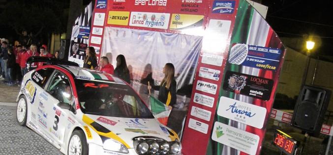 6^ Ronde di Sperlonga: vittoria per l'equipaggio Cosimo-Papa su Ford Focus WRC. Gianfico (Renault Clio R3) primo tra le due ruote motrici