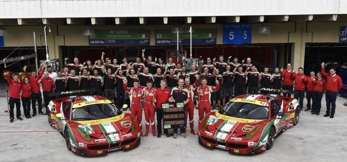 Ferrari conquista il titolo costruttori GT, sul circuito di Interlagos al termine della Sei Ore di San Paolo, ultima prova stagionale del Campionato del Mondo FIA Endurance