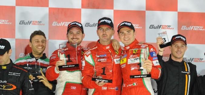 Dominio Ferrari nella 12 ore del Golfo. Davide Rigon, Michele Rugolo e Steve Wyatt hanno firmato una straordinaria vittoria