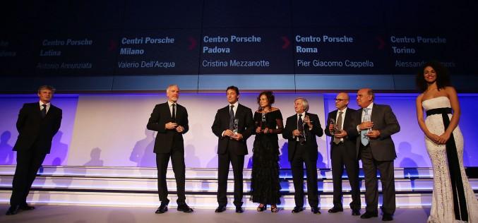 Carrera Cup Night: un riconoscimento ai Concessionari prima della premiazione di Matteo Cairoli campione Carrera Cup Italia 2014