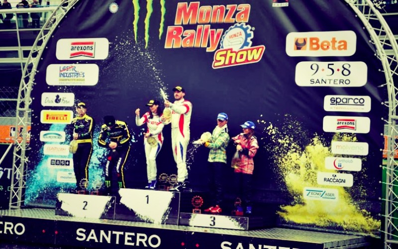 Robert Kubica conquista Monza e il suo pubblico. Kubica navigato da Alessandra Benedetti ha vinto il Monster Energy Monza Rally Show