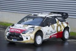 Per il sessantesimo compleanno di DS, le DS 3 WRC schierate dal Citroën Total Abu Dhabi WRT sfoggiano una nuova ed esclusiva livrea