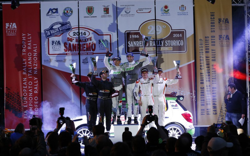 Andrea Nucita al via del Campionato Italiano Rally 2017