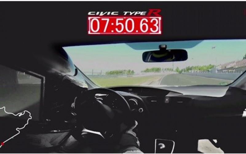 La nuova Honda Civic Type R lancia la sfida sul circuito di Nürburgring
