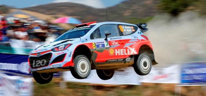 Al Rally 1000 Miglia, Corrado Fontana con Hyundai i20 WRC