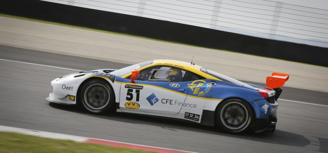 Andrea Montermini su Ferrari 458 alla 3 Ore di Digione