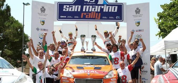 43° San Marino Rally: Doppietta Peugeot e titolo Junior