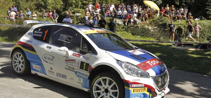 Paolo Andreucci e Anna Andreussi, Peugeot 208 T16 R5, vincono il Rally del Friuli e il Tricolore 2015