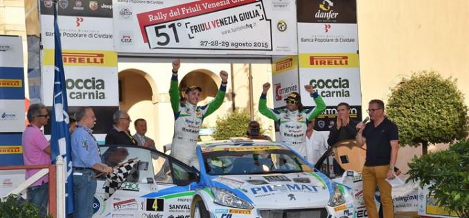 Alessandro Perico e Mauro Turati secondi assoluti al Rally del Friuli con la 208 T16 R5