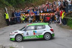 Luca Artino al via del Monza Rally Show