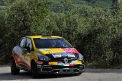 Luca Panzani al via del Rally di Pomarance