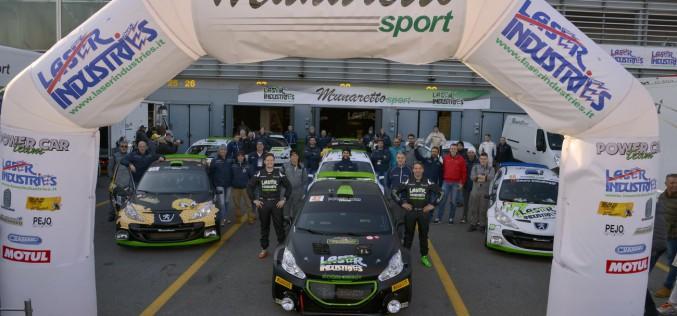 Fabio Babini secondo in classe R5, al debutto con la Peugeot 208 T16 R5, al Monza Rally Show