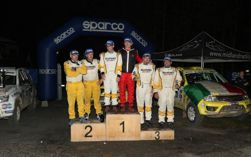 Premiazioni Trofei e Coppe Campionato Italiano Cross Country  Rally 2015 ad Automotracing