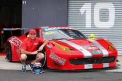 Andrea Montermini alla 12 Ore di Bathurst su Ferrari 458