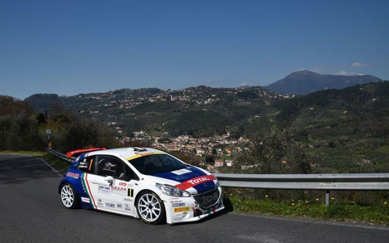Andreucci-Andreussi, Peugeot 208 T16 R5 vincono il Rally il Ciocco e Valle del Serchio e si confermano in testa al CIR