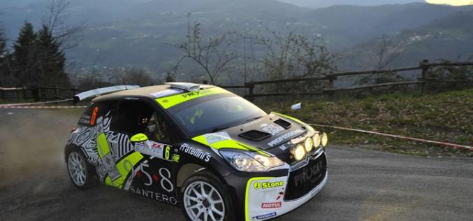 Buon esordio con la Citroen DS3 R5 per Ciava e Michi alla gara d'apertura del Campionato Italiano Rally