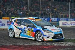 Tobia Cavallini al via del Tricolore WRC con la Ford Fiesta Tam-Auto