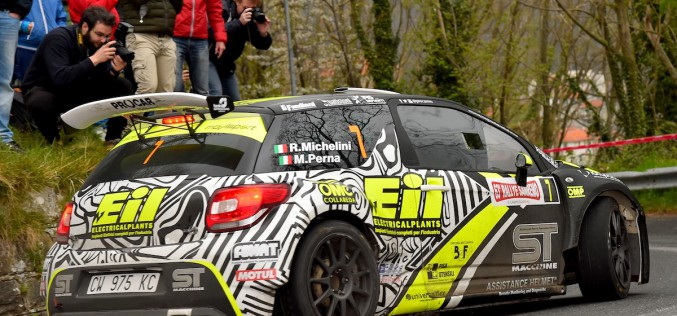 Rudy Michelini al via del 23° Rally del Taro
