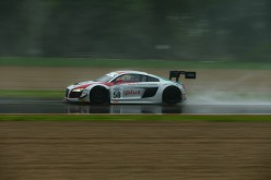 Diluvio Audi Sport Italia su Imola: le R8 sono prime in SuperGT3 e GT3