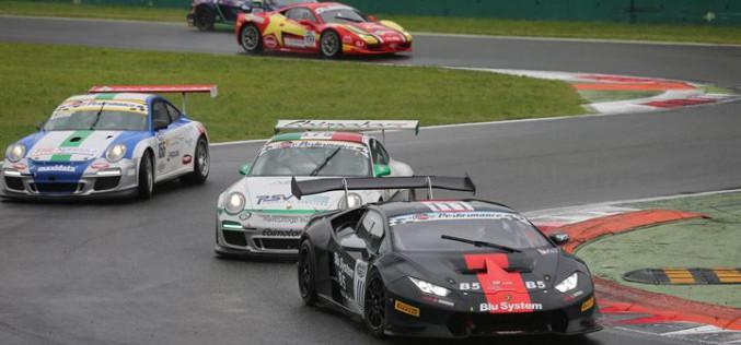 Venturi-Gai (Ferrari 488) e De Lorenzi-Necchi (Lamborghini Huracan) si impongono in gara-2 a Monza nel Campionato Italiano Gran Turismo