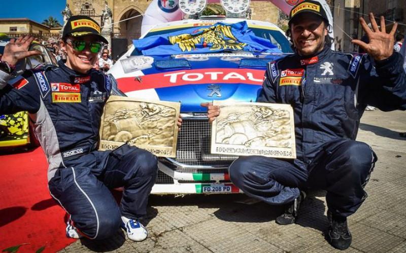 La gara più antica il pilota più vincente Andreucci su Peugeot 208 T16 vince la 100ª Targa Florio