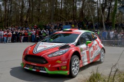 Jimmy Ghione e Giandomenico Basso al volante della Fiesta R5