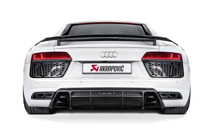 Akrapovič porta l'Audi R8 a livelli di performance superiore