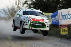 Luca Panzani al via del 23° Rally Adriatico con una Citroën DS3 R3