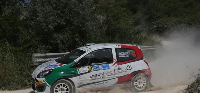 Trevisani e Matteuzzi si alternano nella leadership del 23° Rally Adriatio del Trofeo Twingo R2 Terra