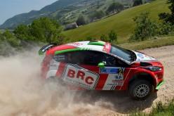 Giandomenico Basso e Simone Campedelli al via del 44° Rally di San Marino