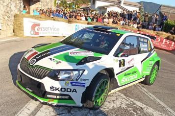 Importante podio per la SKODA Fabia R5 di Scandola e D'Amore al Rally Friuli Venezia Giulia