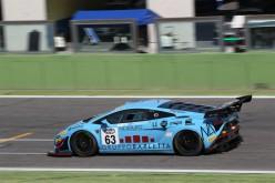 Postiglione-Gagliardini (Lamborghini Gallardo) centrano a Vallelunga la terza vittoria della stagione nella classe GT3