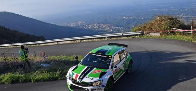 Umberto Scandola e Guido D'Amore, Skoda Fabia R5, sono i vincitori del 4° Rally di Roma Capitale