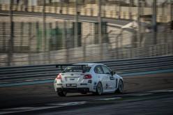 Giacomo Altoè, sul podio di Abu Dhabi con la Subaru Impreza TCR