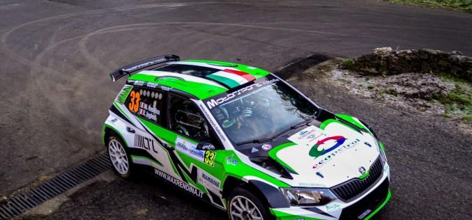 Max Rendina debutta nel FIA European Rally Championship