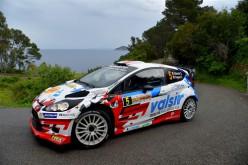 Stefano Albertini e Danilo Fappani, Ford Fiesta WRC, si aggiudicano il 50° Rallye Elba