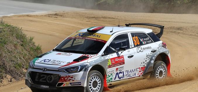 Fabio Andolfi e Manuel Fenoli  al via del 51° Rally di Portogallo nel WRC 2