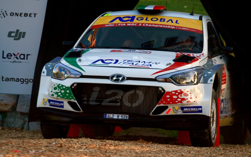 Fabio Andolfi al via al Rally Catalunya Costa Daurada