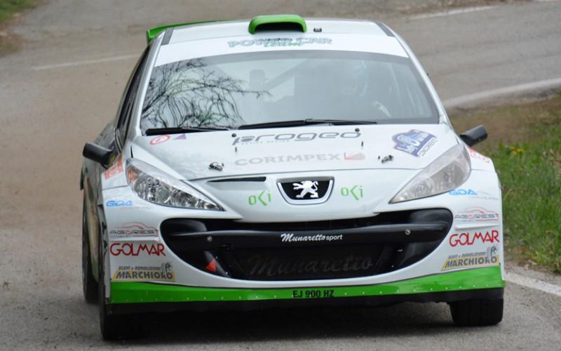 Domenico Erbetta all'esordio nel Campionato Italiano WRC