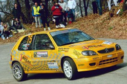Michele Mancin al via del 32° Rally del Bellunese