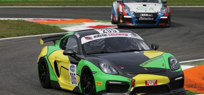 Nicola Neri (Porsche Cayman), tanta grinta e prima vittoria in gara-2 a Monza nella classe GTS