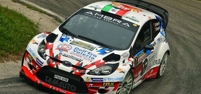 Stefano Albertini e Danilo Fappani, Ford Fiesta Wrc, si aggiudicano il 34° Rally della Marca
