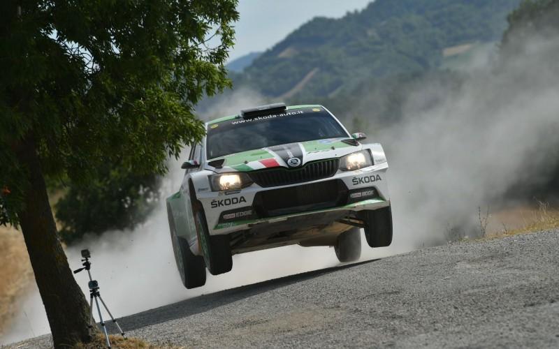 Umberto Scandola e Guido D'Amore, su Skoda, dominano il 45° San Marino Rally