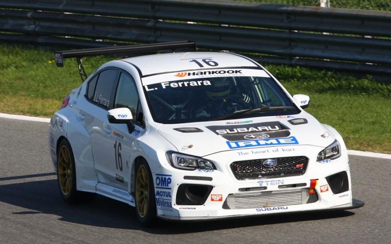 Stefano Comini ad Imola per il rientro della Subaru Top Run nel TCR Italy