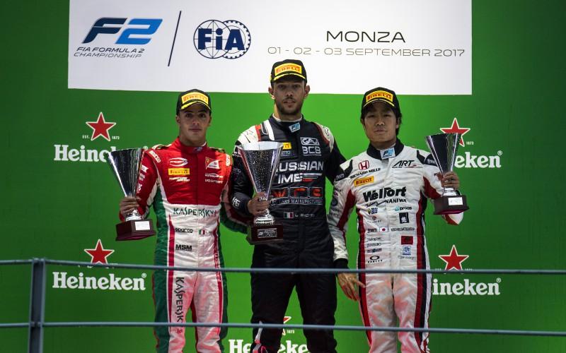 Storica doppietta tricolore a Monza. Luca Ghiotto trionfa davanti ad Antonio Fuoco