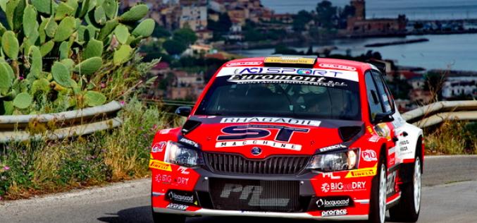 Rudy Michelini in attacco al Rallye Elba
