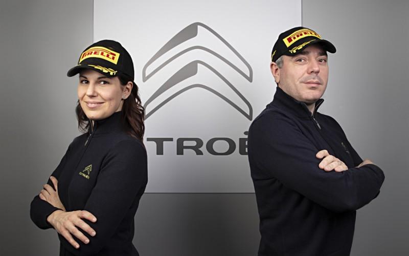 Luca Rossetti con Eleonora Mori equipaggio ufficiale di Citroen Italia nel CIR 2019
